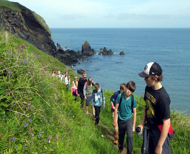 Coastal hike